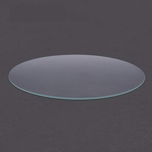 HUANRUOBAIHUO 3D Printer Round Borosilicate Glass Tempered Glass plate Diameter 200mm 220mm 240mm heated bed Flat Transparent for Kossel Delta 3D Printer Parts (Size : 240mm)