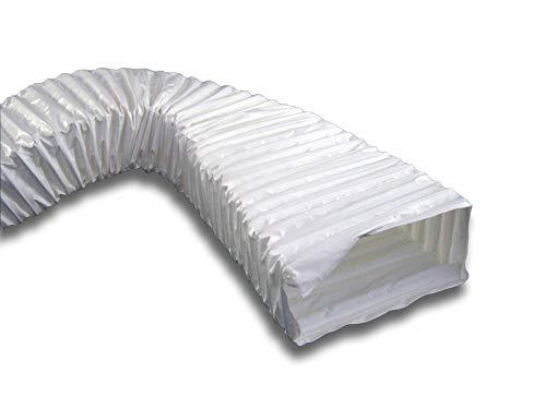 Flexibler PVC Schlauch Flexschlauch Lüftungsschlauch flach für Flachkanalsystem Serie K-6601 System 150 (90x220), Länge 3 m