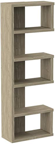 Coaster-Home-Furnishings-Coaster-Contemporary-Weathered-Grey-Semi-Backless-Bookcase-115-D-x-2475-W-x-7075-H