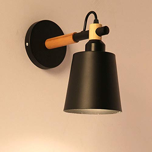 no-branded Wall Lamp Wrought Iron Wood Lighting Lamps Black Height 24 From The Wall 27cm5-10 Square Meters Living Room ZHQHYQHHX