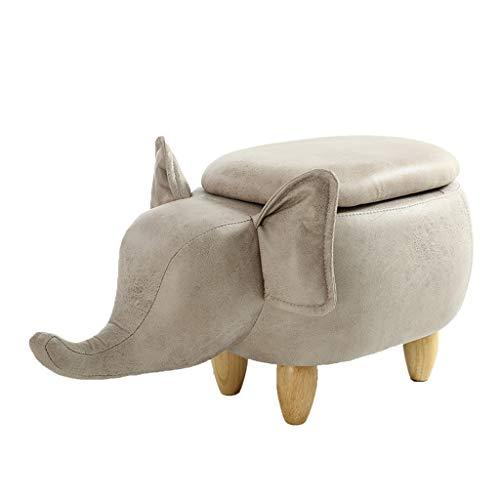 GYZ Elefante otomana manejable Escabel, Hogar Muebles Accent, usada como sofá Taburete, Zapatos Cambio heces Forma Linda Animal Mediano Taburete de Paso otomano (Color : A)