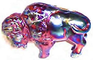 Handmade Raku Ceramic Pottery Buffalo Figurine