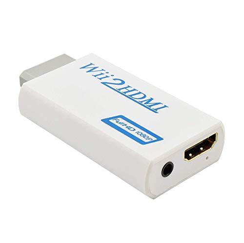 Conversor Wii a HDMI, Kiyicjk Wii a HDMI 720P 1080P HD 3,5 mm Audio Adaptador soporta Todos los Modos de visualización de Wii