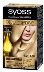 Syoss Oleo Intense 9-10 Lot de 3 colorants pour cheveux blond clair 115 ml