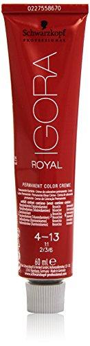 Schwarzkopf IGORA Royal Premium-Haarfarbe 4-13 mittelbraun cendré matt, 1er Pack (1 x 60 g)