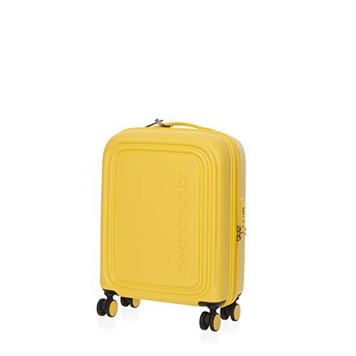 Mandarina Duck LOGODUCK + TROLLEY CABIN / DUCK YELLOW - Luggage- Suitcase unisex, Duck Yellow, kabinentrolley - P10SZV54-DUCK YELLOW