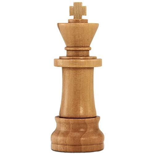 Pieza de Ajedrez Rey 32 GB - Chess King - Memoria Almacenamiento de Datos – USB Flash Pen Drive Memory Stick - Madera Marrón