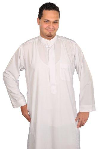 Egypt Bazar Egypt Bazar Herren-Kaftan im Saudi-Stil, Größe: XL, weiß