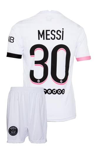 IHIMI Paris Lionel Messi Kinder Trikot #30, 2021/2022 Saison, Auswärts, Komm mit Shorts und Socken Fußballfans (8-9 Jahre,152)
