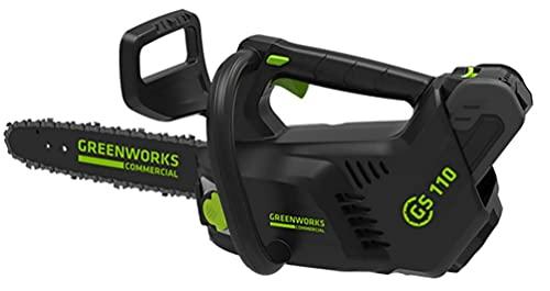 Greenworks Motosierra de batería GD40TCS (Li-Ion 40V 12 m/s velocidad de la...