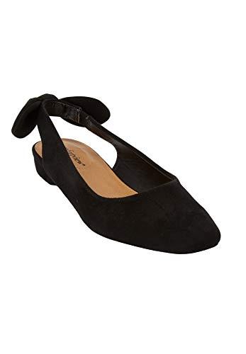 Comfortview Women's Wide Width The Amie Slingback Sneaker - 12 W, Black