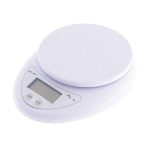 UU19EE Balanza de pesaje de 5 kg x 1g Balanza de Cocina Digital Balanza de Cocina Digital Comida dietética LED compacta Steelyard electrónica