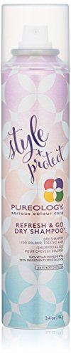 Pureology | Style + Protect Refresh & Go Dry Shampoo | For Color-Treated Hair| Vegan | 3.4 oz.