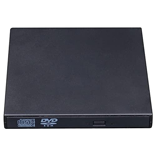 KingbeefLIU Unidad de CD externa USB 3.0 portátil CD DVD +/-RW unidad DVD/CD ROM Regrabador Grabador Grabador Unidad Óptica Tipo C Fácil de usar con Ordenador Portátil Escritorio PC Negro