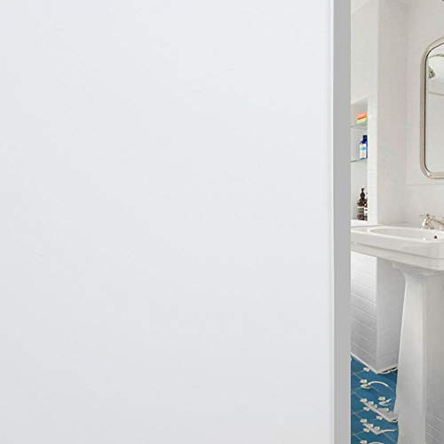 Emmala Privacy Glassato raamfolie voor ramen zonder lijm Unico Cling folie glasfolie voor de badkamer A 40 x 200 cm (16X79 inch)