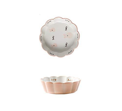 WXXT ramequines,moldes Horno,ramequines thermomix,Tazón de pudín Tazón de soufflé para Hornear Tazón pequeño de cerámica Tazón de Ensalada Tazón de Cereales Tazón de Desayuno Tazón de arroz al Horno