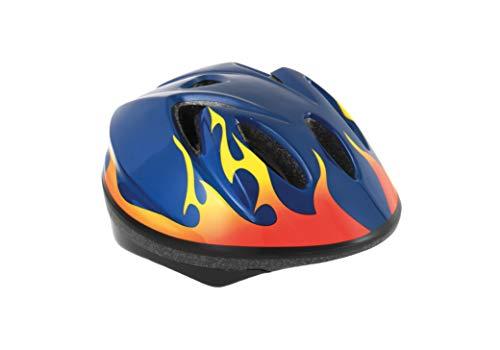 Massi Child Ray Azul/Fuego Casco para Ciclismo Infantil, Niños, 52-56cm