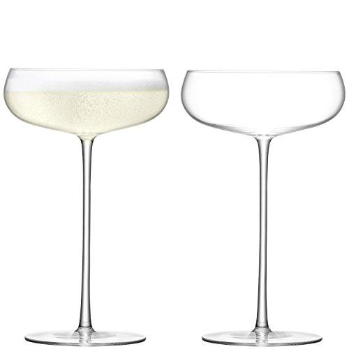 LSA International Vin Culture Champagne Soucoupe Transparent 320 ML X 2, 12 x 12 x 19 cm