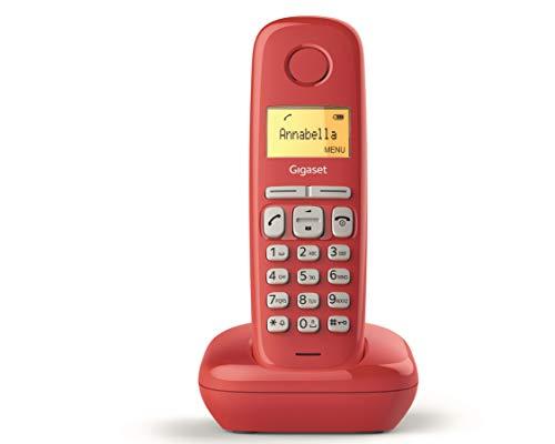 Gigaset A170 Telefono Portatile, Ampio Display Illuminato, Lista Chiamate Effettuate, Ricevute e Perse, Rosso [ITALIA]