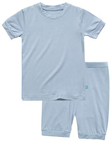Boys Short Sleepwear Pajamas 2pcs Set Short Colorful Bluegrey M