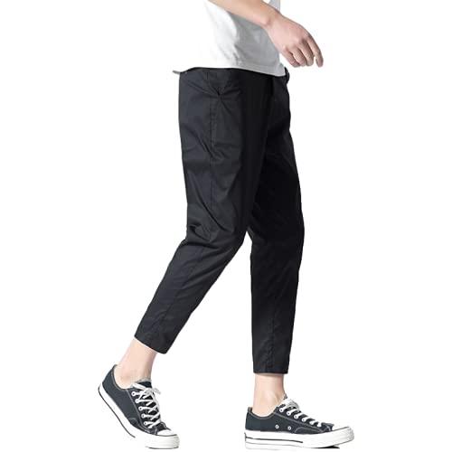 Pantaloni Casual da Uomo Primavera ed Estate Trend Pantaloni Casual Classici a Cono Allentato Pantaloni Casual Temperamento alla Moda 36