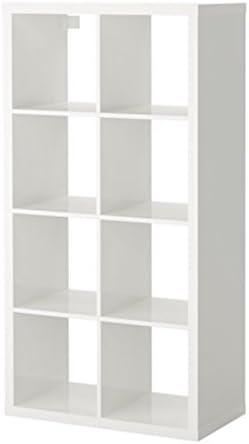 Ikea 8 estantes Kallax, rectangulares y de Alto Brillo, Blancos, de la Marca