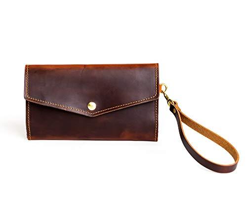 Women's Leather Clutch Wallet, Trifold Women's Wallet, Leather Wallet Women
