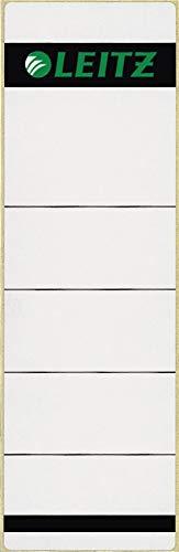 Leitz 16420085 Selbstklebend Rückenschild Papier (Kurz, Breit) 20 Stück grau