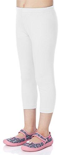 Merry Style Merry Style Mädchen 3/4 Leggings aus Viskose MS10-131 (Weiß, 110)
