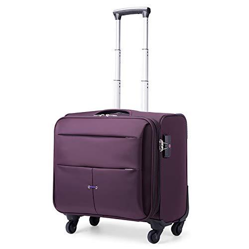 RZB Ladies Damask Rolling Computer Laptop Bag Brief Case (Color : B, Size : 45.52841CM)