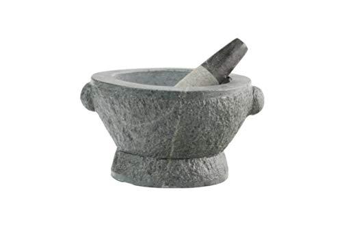 Mortero de granito XXL + mortero de 21 kg de mortero de piedra maciza de 27 cm de diámetro