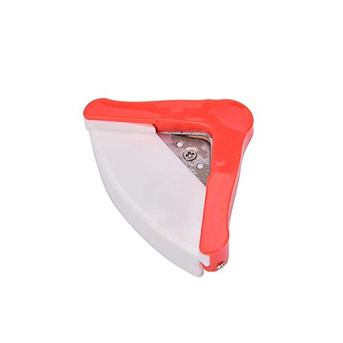 Hmg Angle Trimmer Rounder Round Cut Punch Card Corner Scrapebooking Cutter Tool Paper Puncher DIY Clipper Office Stationery (Amarillo) (Color : Red)