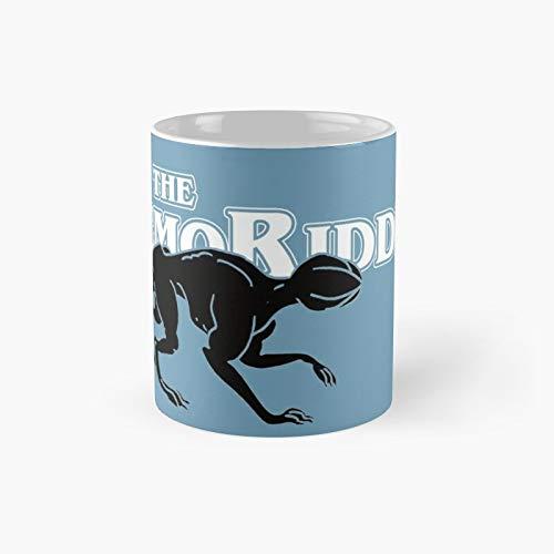 Stranger Things Demogorgon Taza clásica en blanco y negro con el mejor regalo, tazas de café divertidas, 11 oz