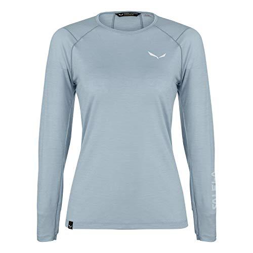 Salewa Damen PEDROC Alpine WO W L/S Tee. Blusen & T-Shirts, Virtual pink, 42/36