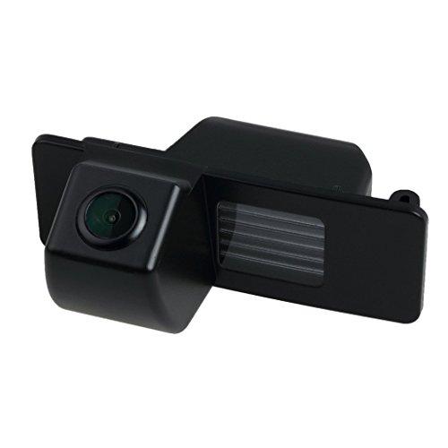 Farb Rückfahrkamera integriert in die Nummernschildbeleuchtung LED Kennzeichenbeleuchtung Kamera mit Distanzlinien für Opel Vectra C Caravan Mokka Cadillac Buick Chevrolet Trax Aveo Lacrosse
