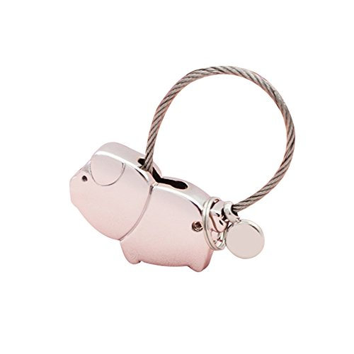 TREESTAR Schweinchen Schlüsselanhänger Paar Magnetisch Staktierbar Auto Schlüsselanhänger Schlüsselanhänger für Damen Amore Anelloe Kette Wunderschönes Liebes-Symbol für Reisen La SUA Fidanz. 1