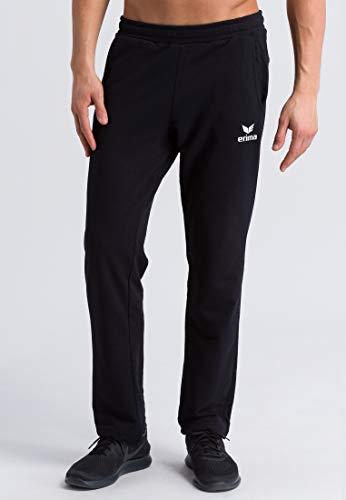 ERIMA Herren Sweathose Essential 5-C pants, schwarz/weiß, L, 2101907