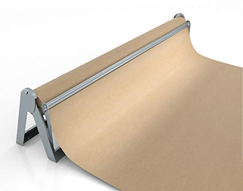 Paper Roll Dispenser and Cutter - Long 36' Roll Paper Holder - Great Butcher Paper Dispenser, Wrapping Paper Cutter, Craft Paper Holder or Vinyl Roll Holder - Wall Mountable