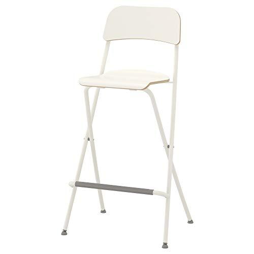 IKEA ASIA FRANKLIN Barhocker mit Lehne, faltbar, Weiß