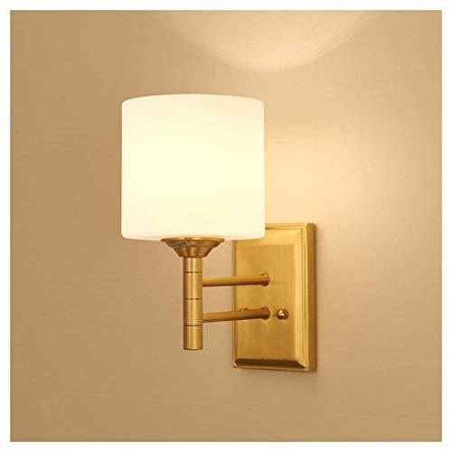 GANE Lámpara de Pared LED para Interiores, E14 Fuente de luz Sala de Estar Dormitorio Lámpara de cabecera Pasillo Pasillo Baño Espejo Frente [A ++]