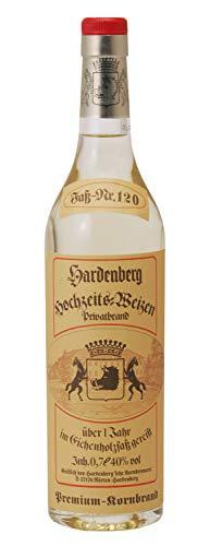 Hardenberg Hochzeitsweizen 40% vol., Privatbrand destilliert aus eigenem Weizen, ca. 1 Jahr im Holzfass gelagert (3 x 0.7 l)