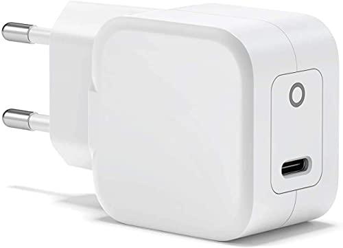 20W Cargador USB C para iPhone 11/12/13, Cargador de Pared Tipo C, Cargador Móvil Rápido Compatible con iPhone 11/12/13/Mini/12 Pro/12 Pro MAX iPad AirPods Pro iPad Cargador