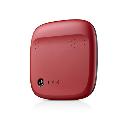 Seagate Wireless Mobile Portable Hard Drive Storage 500GB STDC500402 (Red)