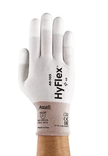 Ansell Sensilite 48-105 Guanto Multiuso, Protezione Meccanica, Bianco, Taglia 7 (Sacchetto di 12 Paia)