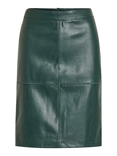 Vila Clothes Damen Vipen New Skirt-fav Rock, Grün (Pine Grove), 36 (Herstellergröße: S)