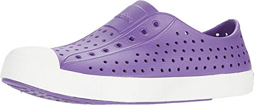 Native Kids Shoes Girl's Jefferson (Little Kid) Starfish Purple/Shell White 11 Little Kid