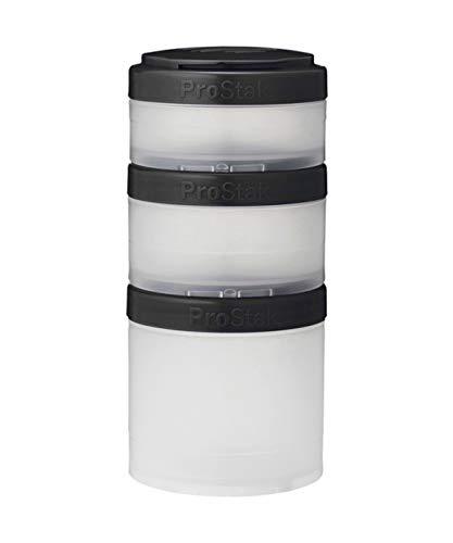 Blender Bottle Pro Stak Expansion Pak Clear Black - 3 Unidades