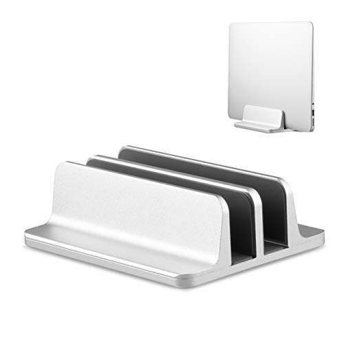 Blumax Aluminium Laptop Ständer vertikal für alle Pads iPad Tablets und Notebook Silber