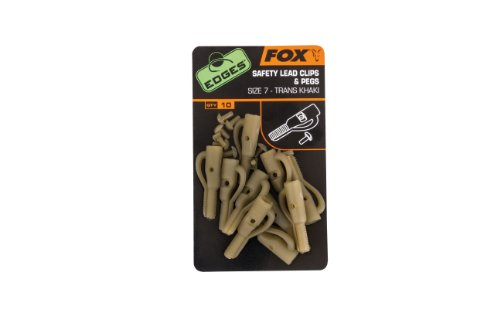 Fox Edges Lead Clip + Pegs (10 Stück)
