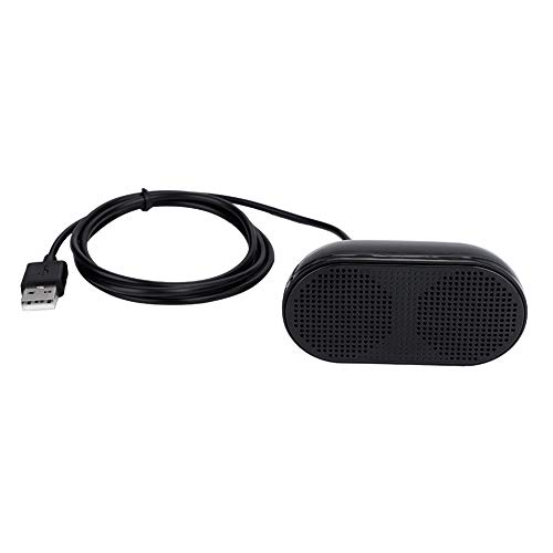 Computer Speaker, USB Wired Speaker for Desktop and Notebook, Integrated Power Supply and Audio Cable, Heavy Bass Mini Dual Speaker, Wide Compatibility